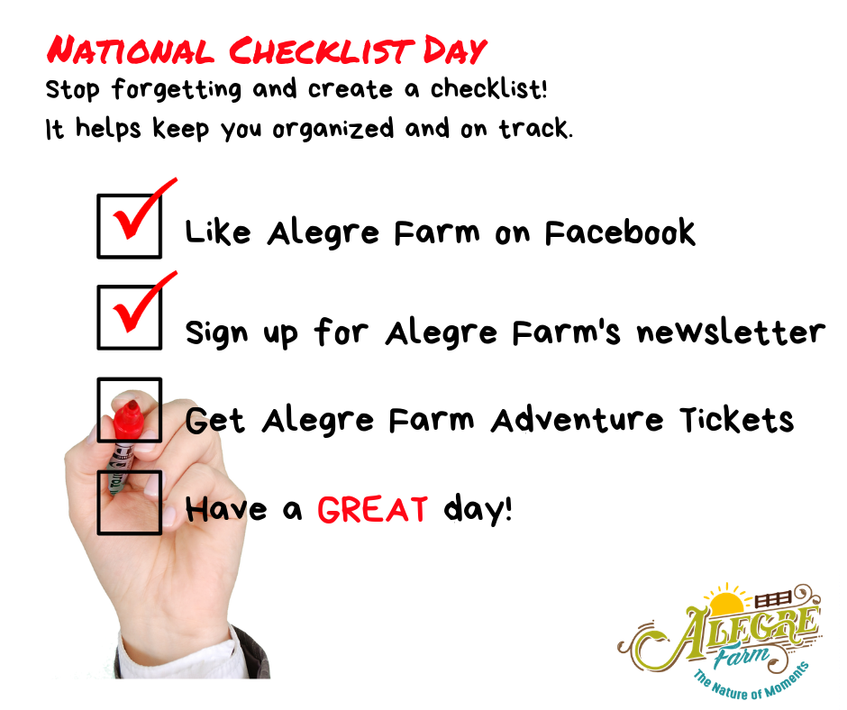 National Checklist Day