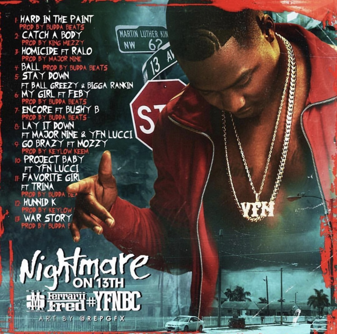 Ferrari Fred - Nightmare on 13th Back Cover
