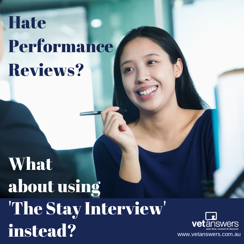 Hate Performance Reviews - What about using The Stay Interview instead