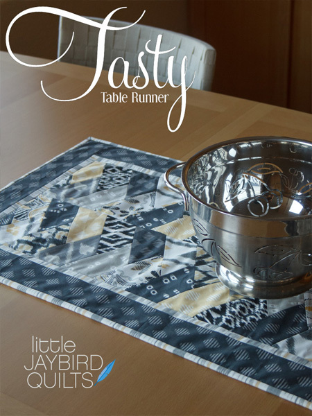 jaybird quilts  tasty table runner sewing pattern