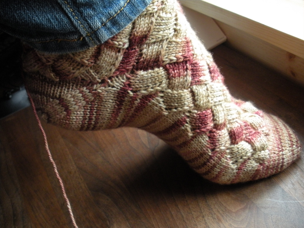Basketcase entrelac socks