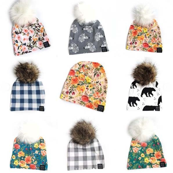 Knit Hats from Mandizzle featuring fabrics from Hawthorne Supply Co
