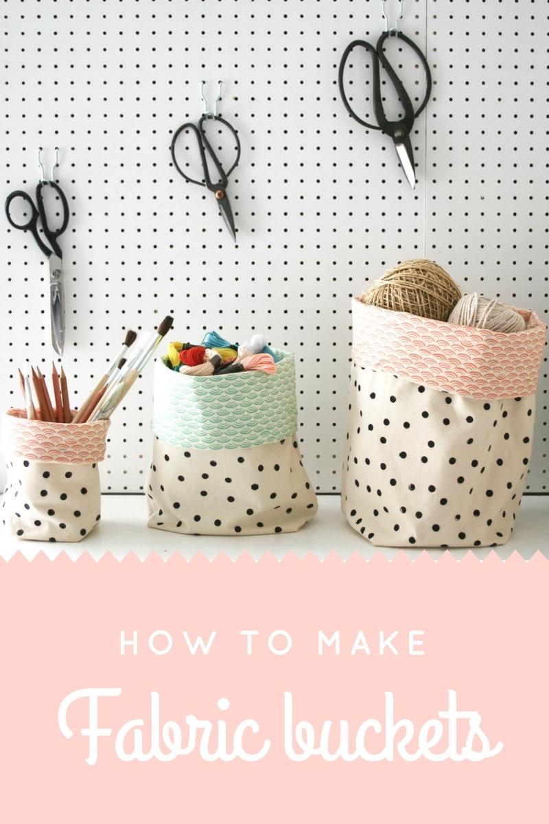 Apartmentapothecary- free fabric basket tutorial
