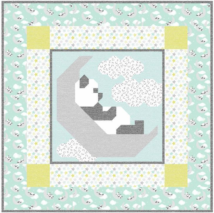 Dear stella website-sleepy panda pattern available from Counted Quilts