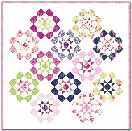 Dozen Roses quilt pattern- by keera job- pattern available for purchase