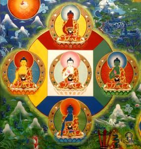 5 Dhyana Buddhas