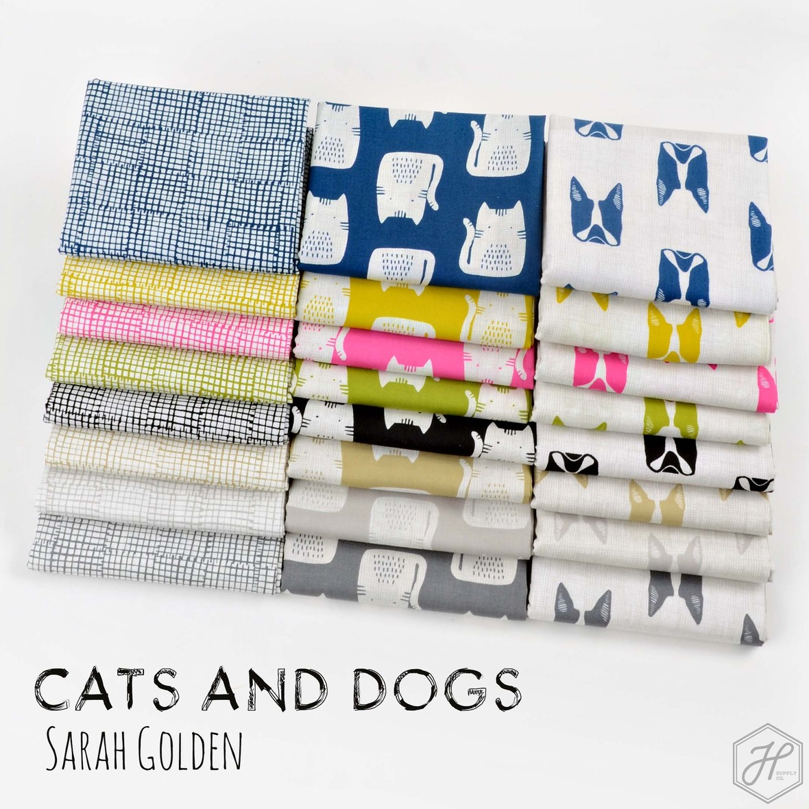 Cats and Dogs Fabric Poster Hawthorne Supply Co and Sarah Golden