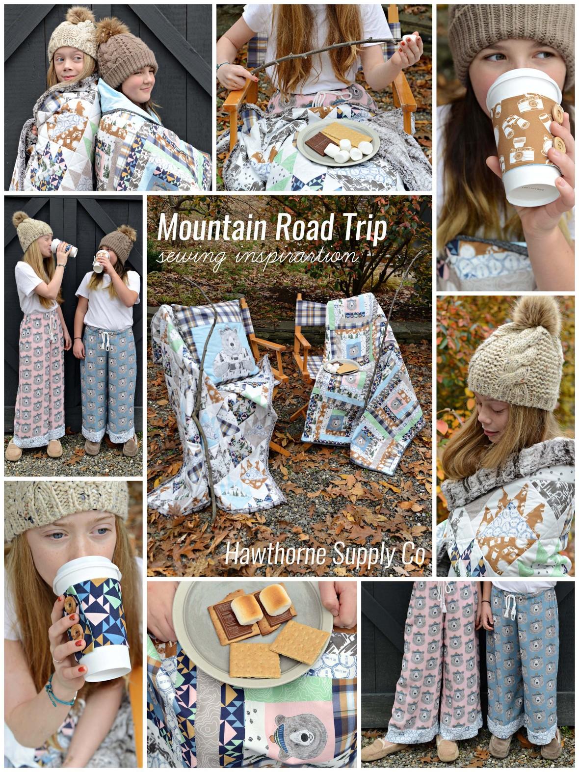 Mountain Road Trip Fabric sewing inspiraation