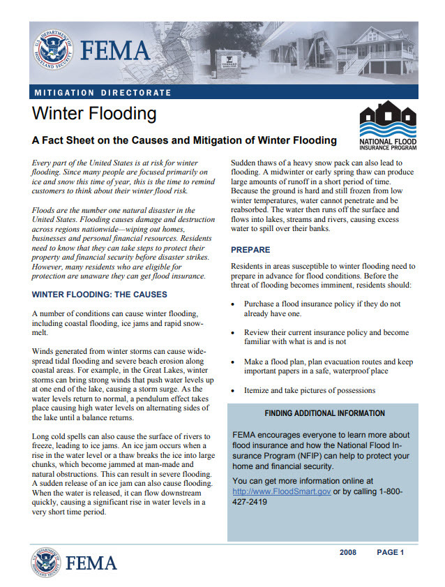 winter flooding