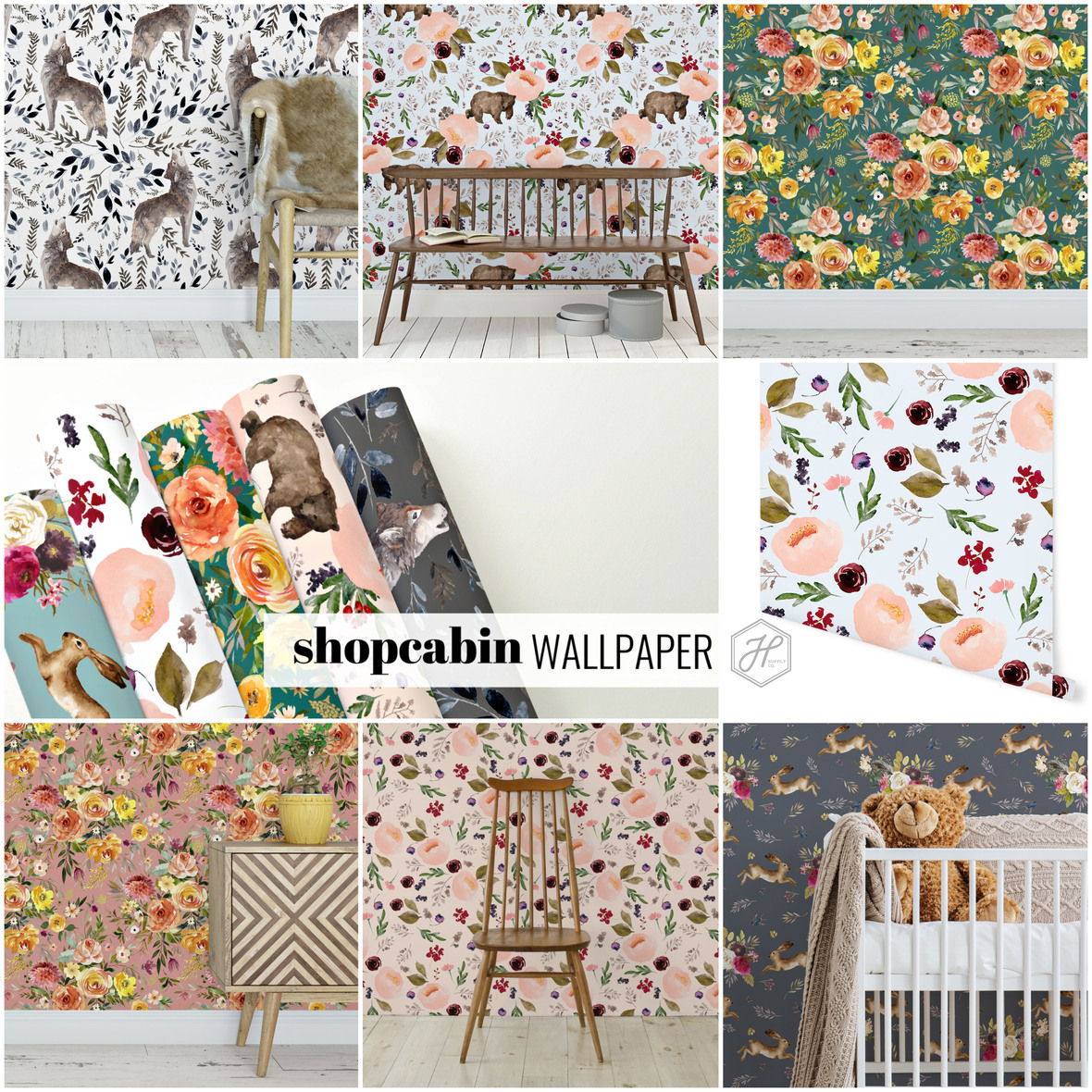 Shopcabin Wallpaper at Hawthorne Supply Co