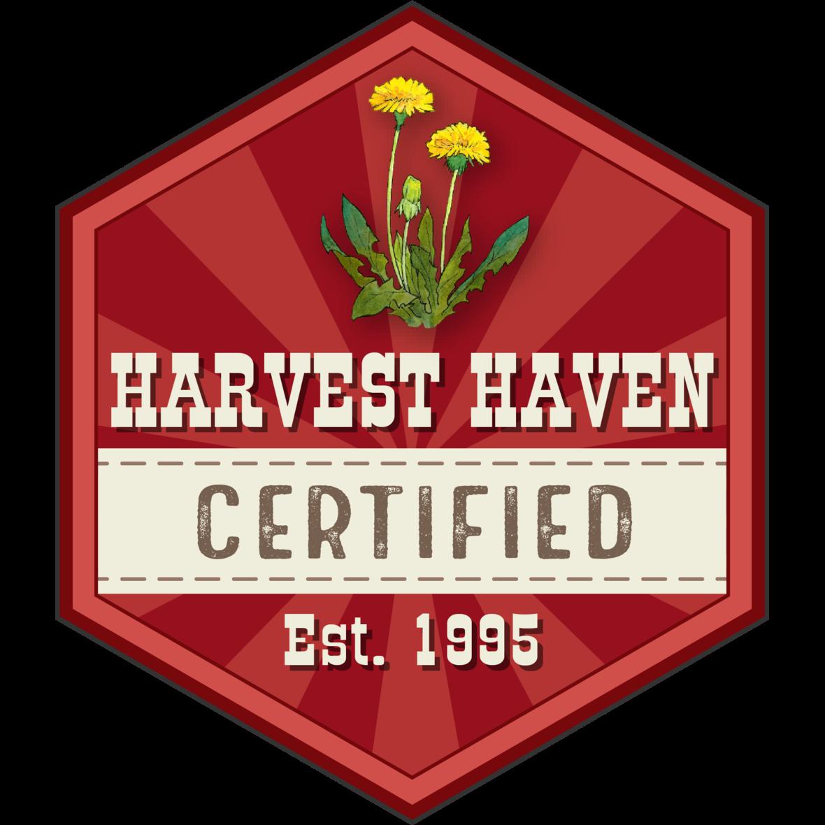 harvest haven certified logo