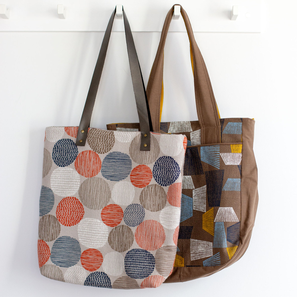Genoa tote and super tote- patterns by blogless anna and noodlehead