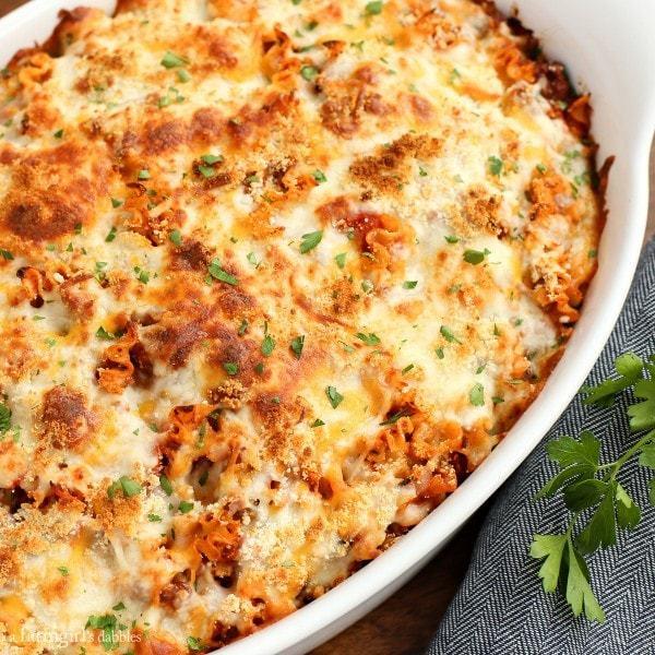 Spicy-Lasagna-Hotdish AFarmgirlsDabbles AFD-6-600x600