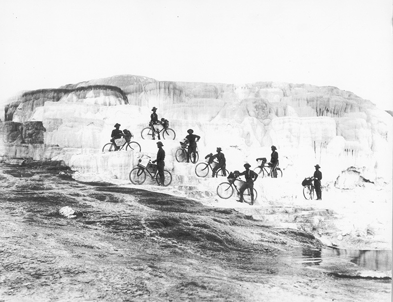 25th-Infantry-Bicycle-Corps-at-Minerva-Terrace-Yellowstone-National-Park-1896-Courtesy-Montana-Historical-Society