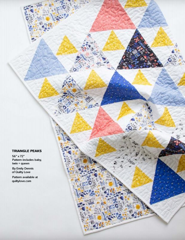 figo lookbook6- triangle peaks - pattern available from quilty love