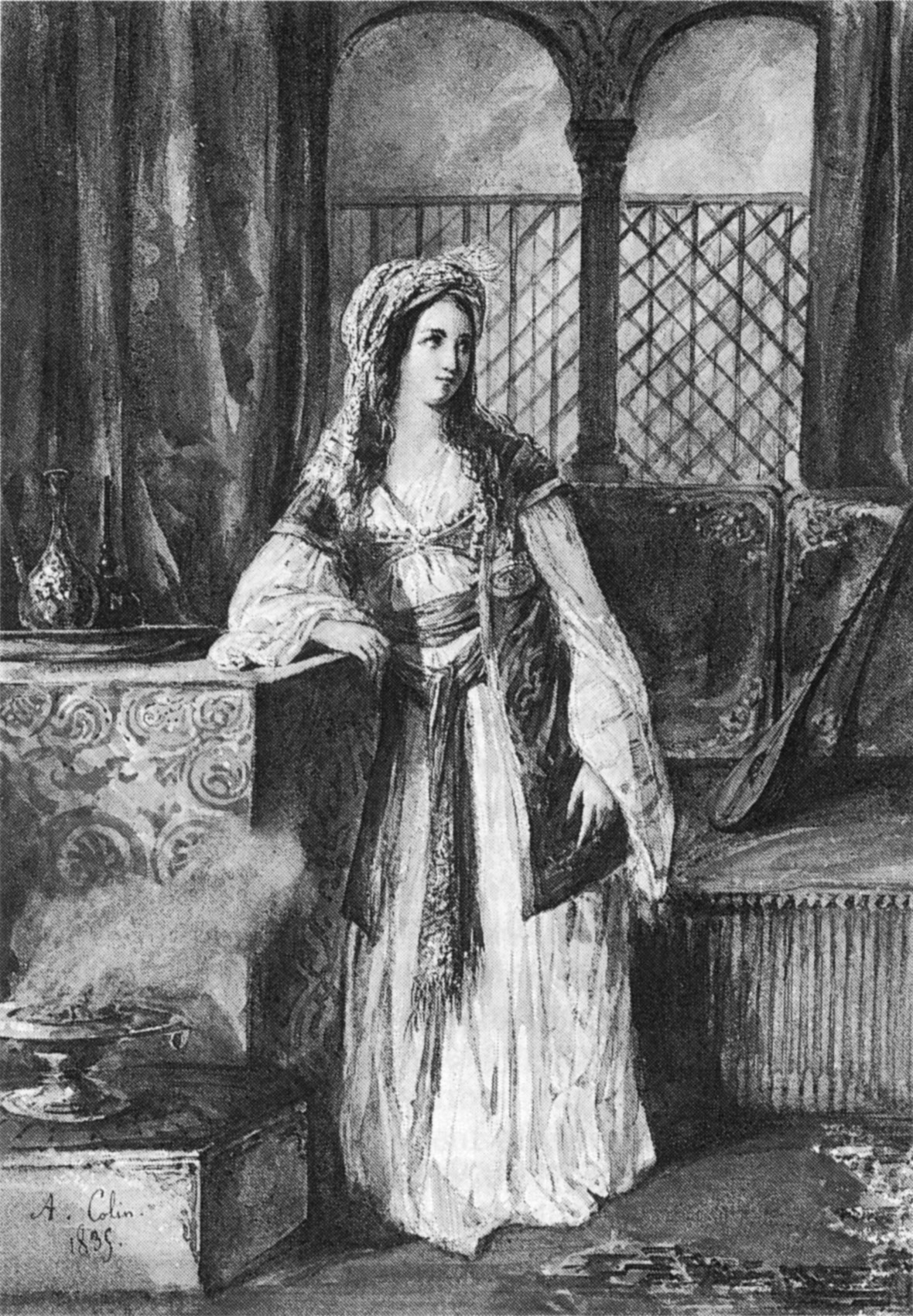 Cornelie Falcon as Rachel in La Juive by Halevy 1835 - A Colin - NGO2p110