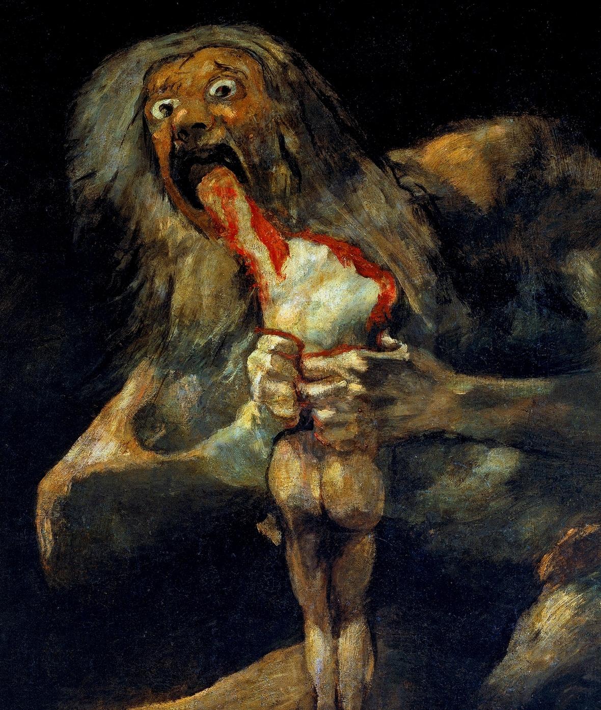 Francisco de Goya Saturno devorando a su hijo 1819-1823 crop