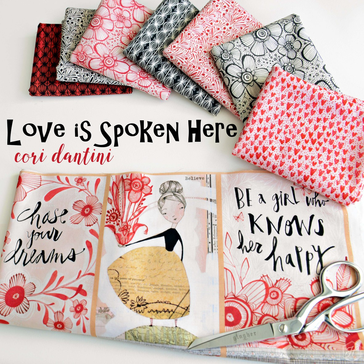 Love is Spoken Here Fabric Poster