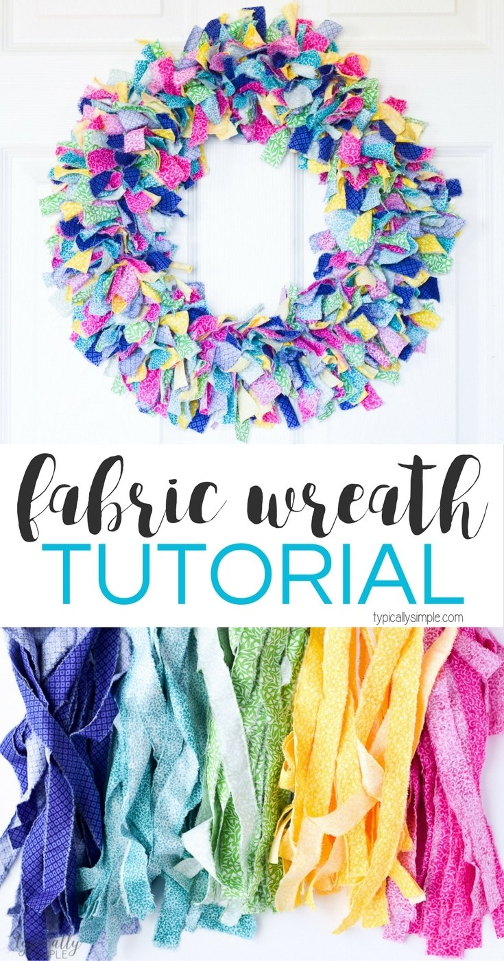Typically Simple- fabric wreath tutorial