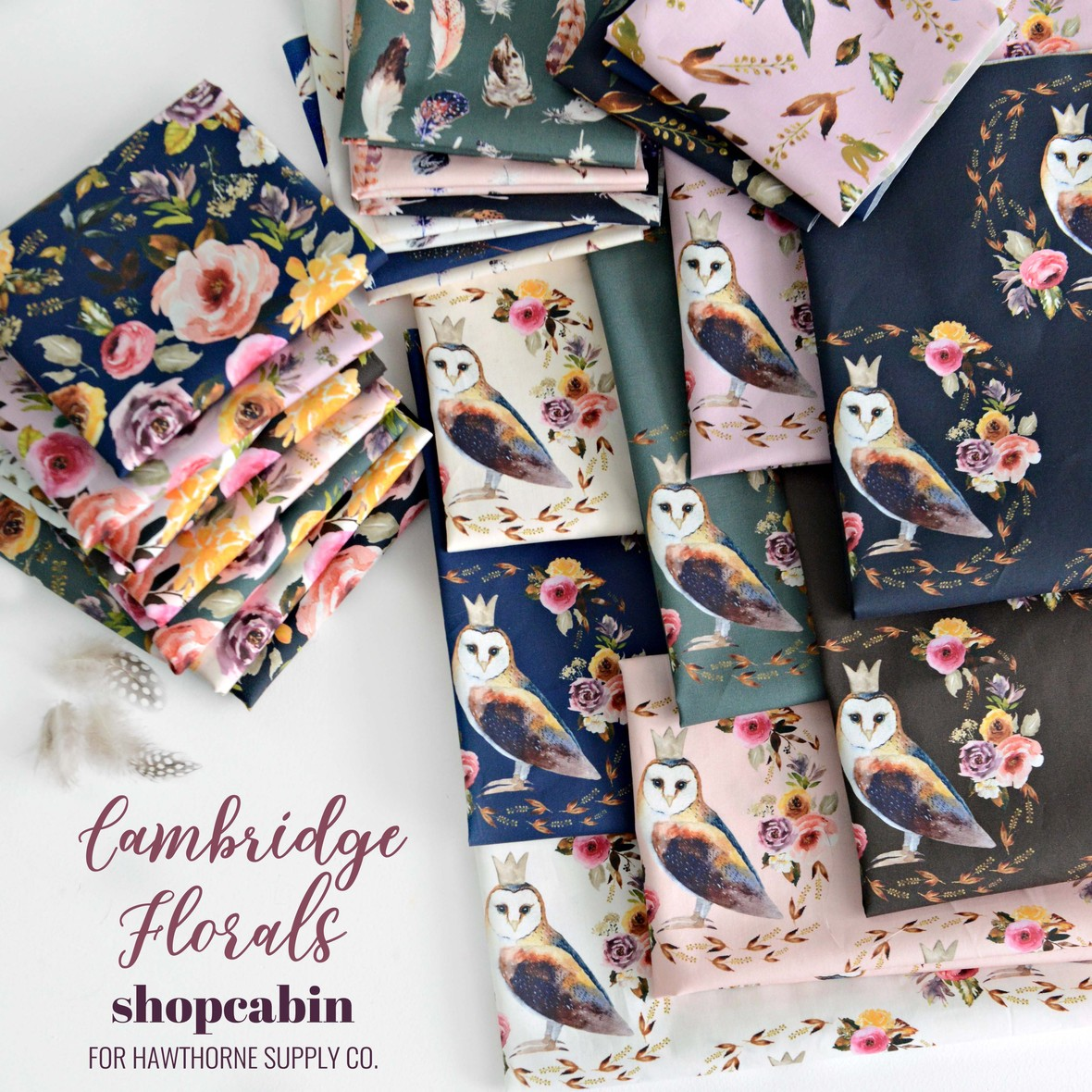 Cambridge Florals Fabric Poster Shopcabin for Hawthorne Supply Co