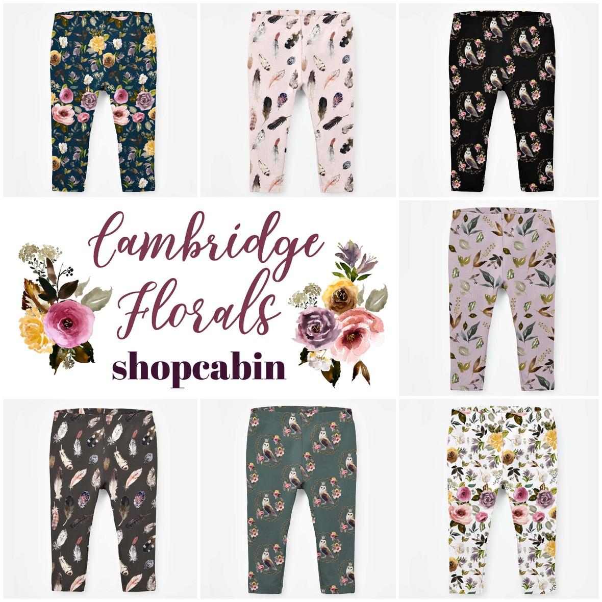 Cambridge florals baby leggings