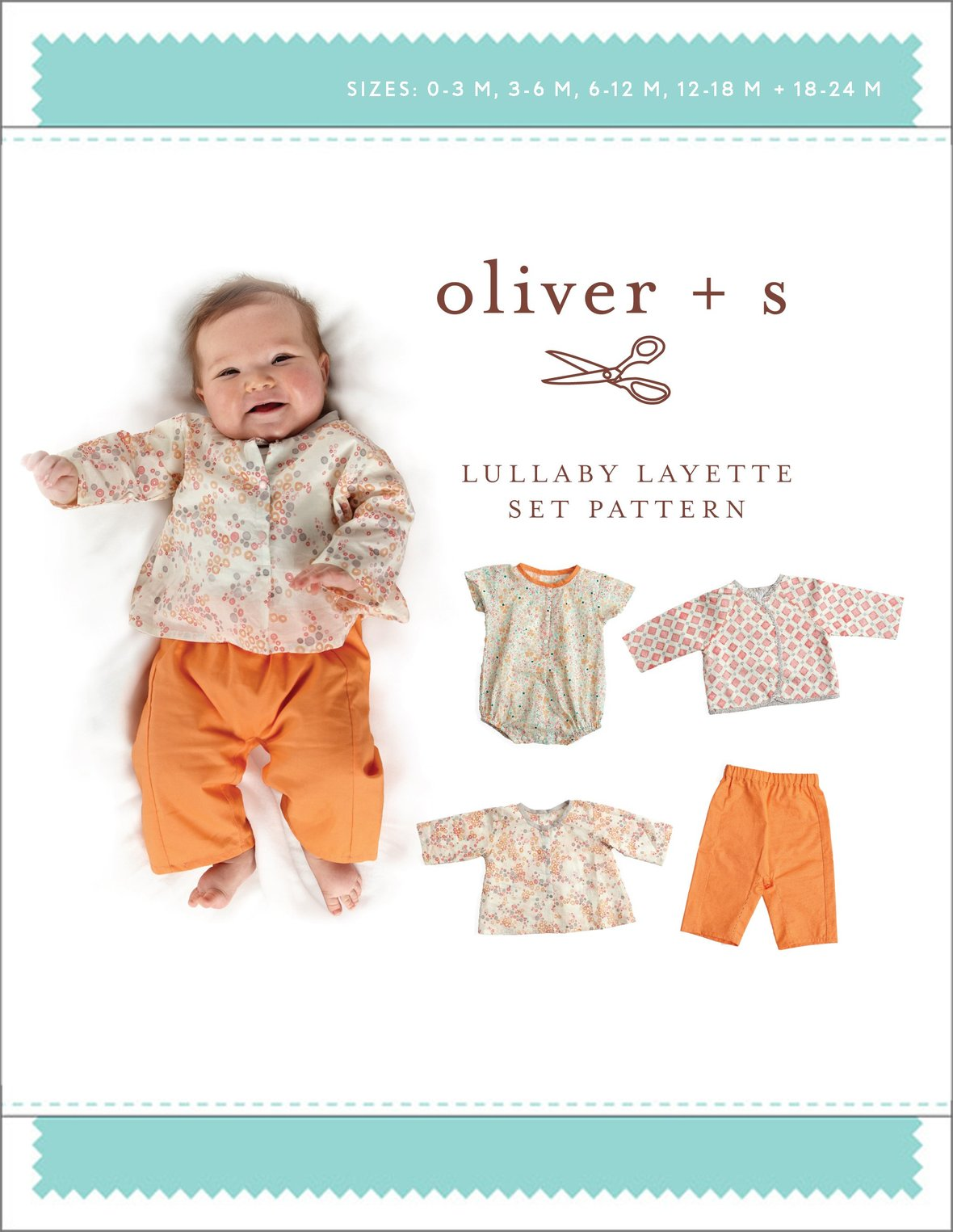 oliver and s  baby lullaby layette set sewing pattern