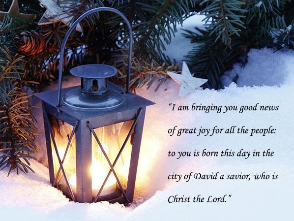 lantern with bible verse