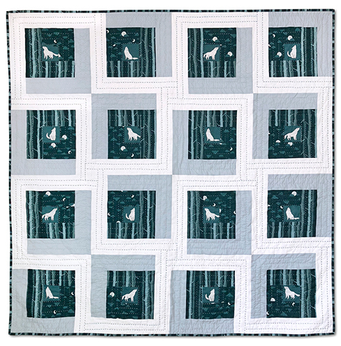 Windham-wolflodge quilt kit- night song