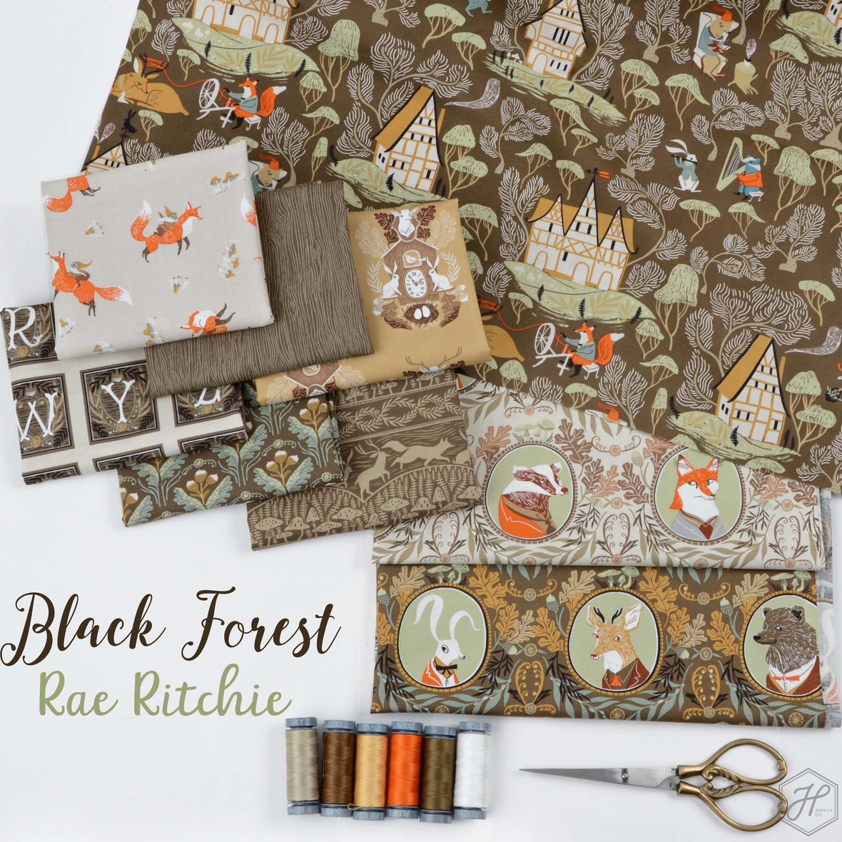 Black Forest Fabric Poster