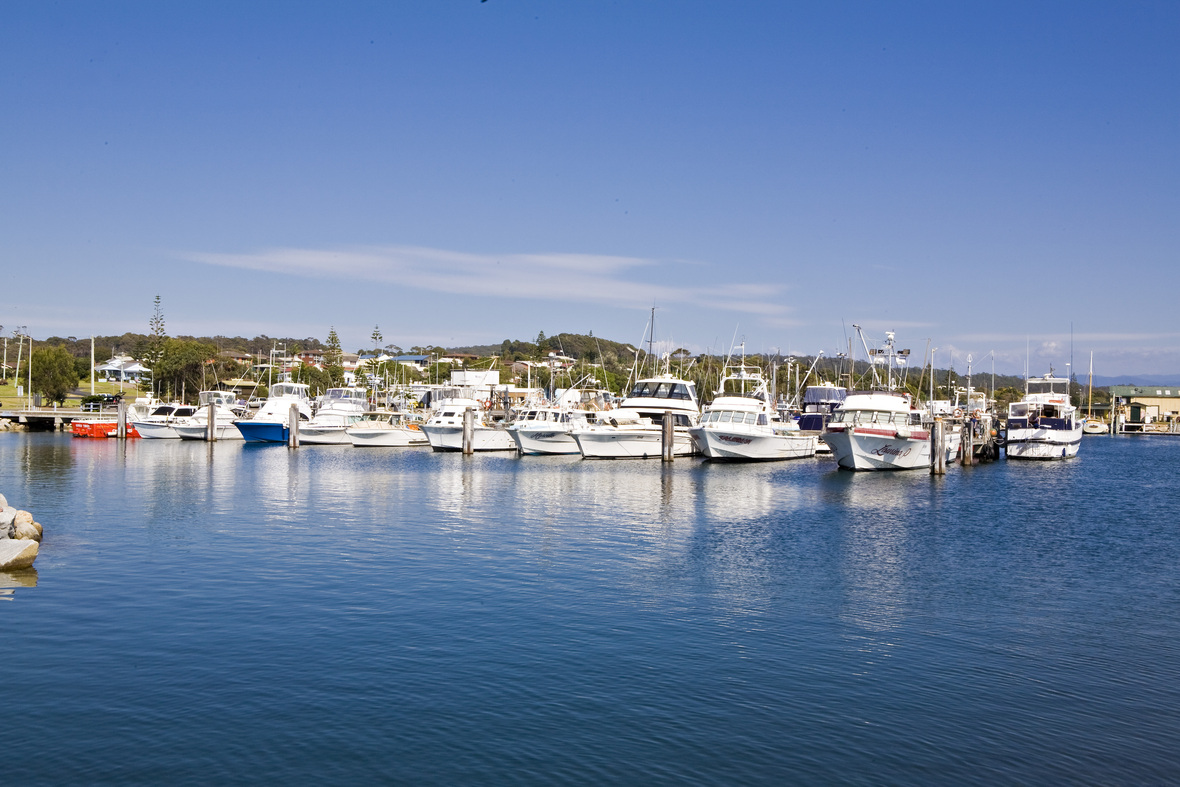 Bermagui Boats in Harbour Sapphire Coast NSW 11
