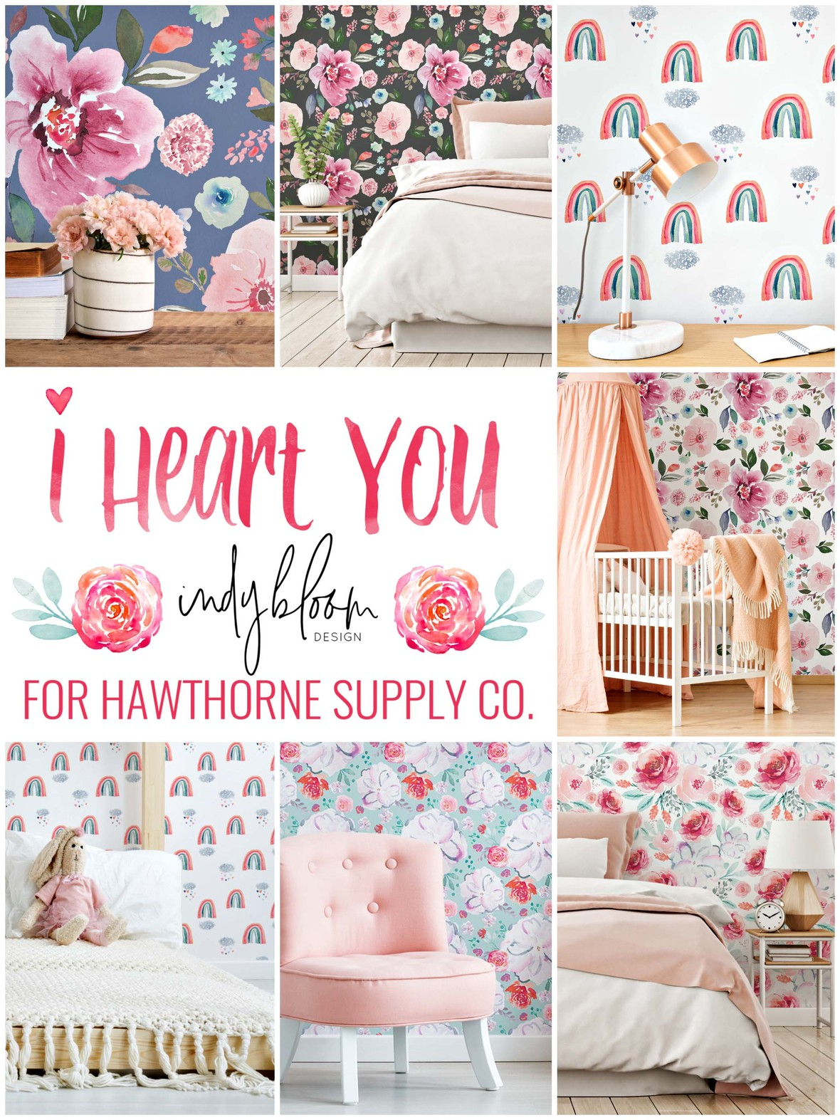 Indy Bloom Falling For You Wallpaper at Hawthorne Supply Co