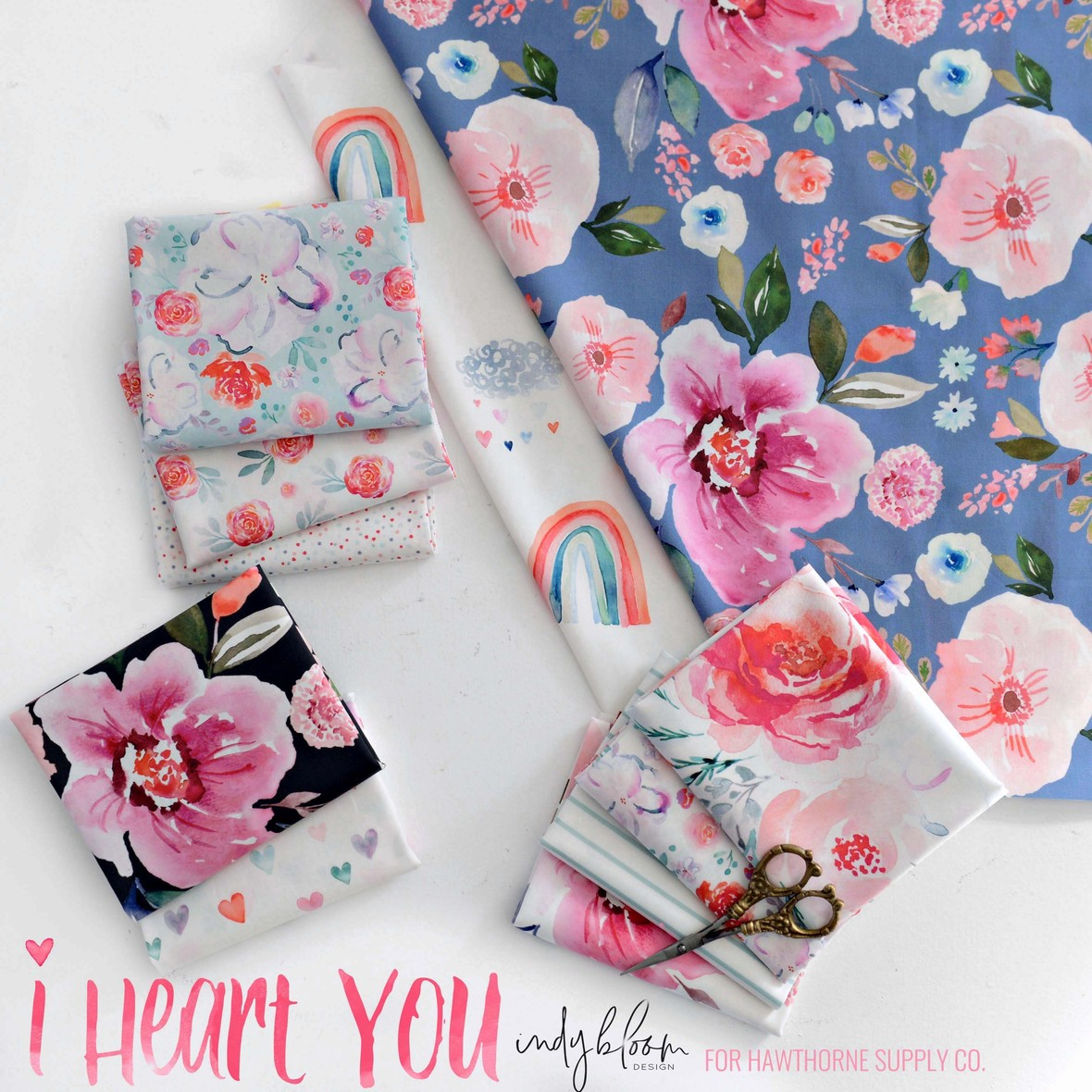 Indy bloom I Heart You Fabric Poster  at Hawthorne Supply Co c
