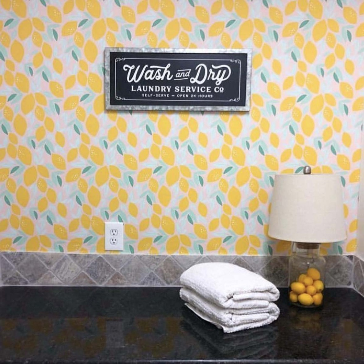 Indy Bloom Lemon Wallpaper at Hawthorne Supply Co