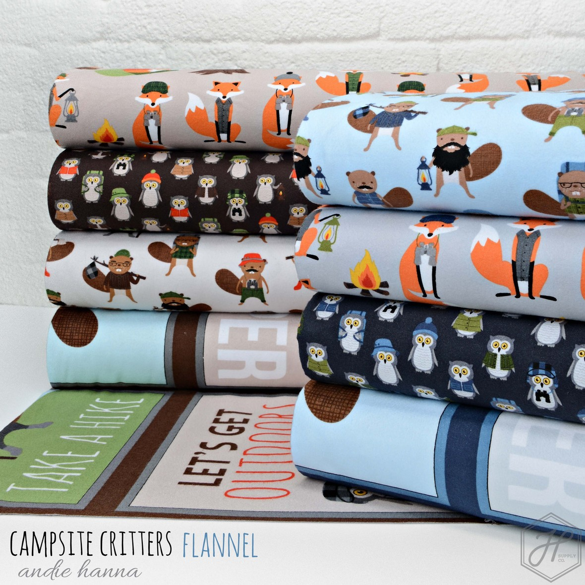 Campsite Critters Flannel
