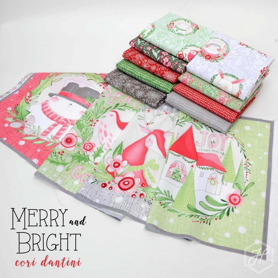 Merry and Bright Fabric Poster Cori Dantini at Hawthorne Supply Co