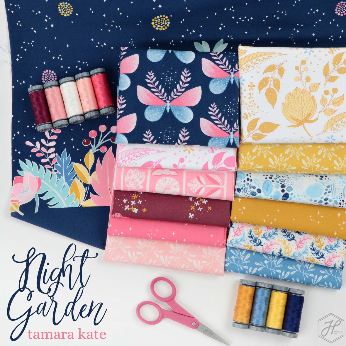 Night Garden Fabric Poster