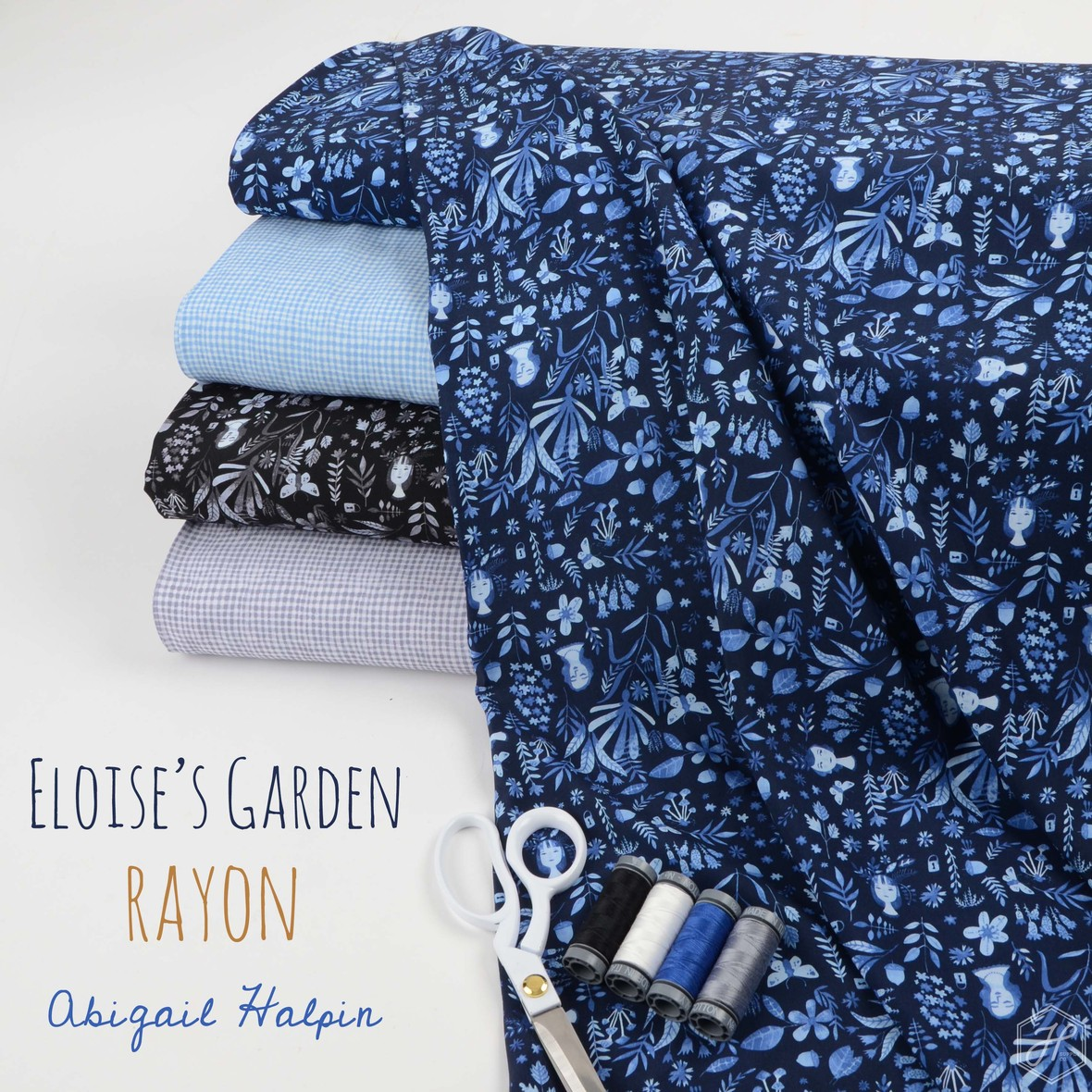 Eloises Garden Rayon Figo fabric at Hawthorne