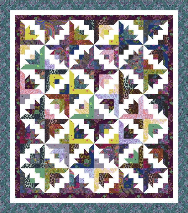 FS newsletter- Butterfly Bloom quilt - pattern from Cozy Quilt Designs