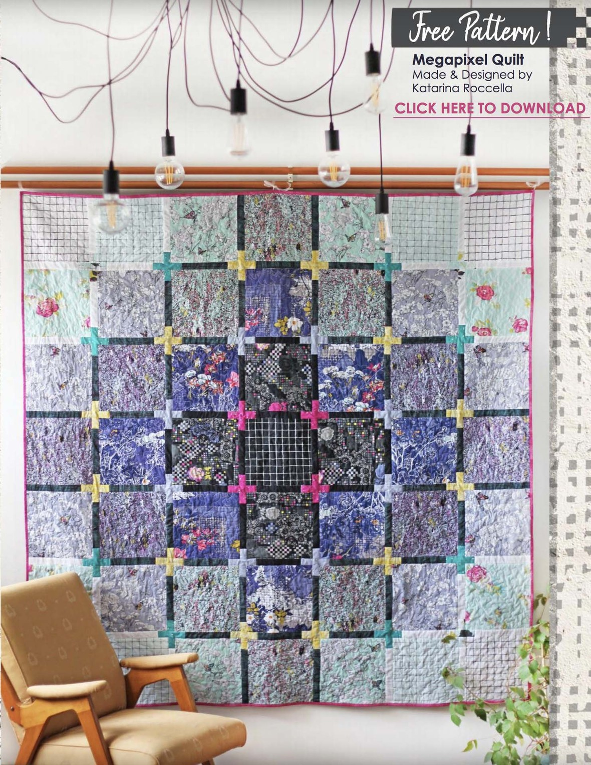 Grid Fabric Quilt Pattern