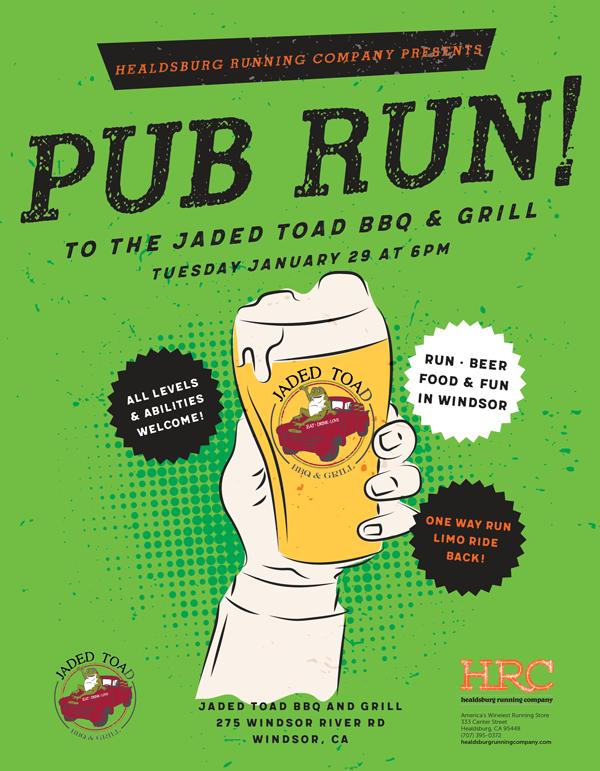 pub run jaded toad