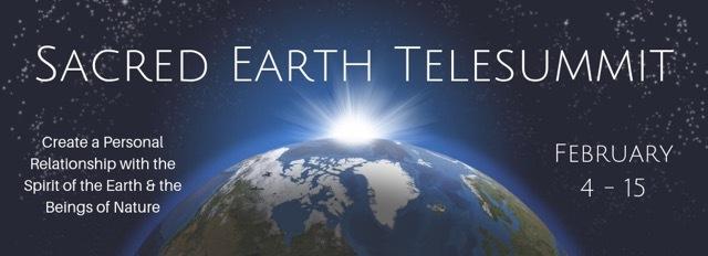Sacred Earth Telesummit banner
