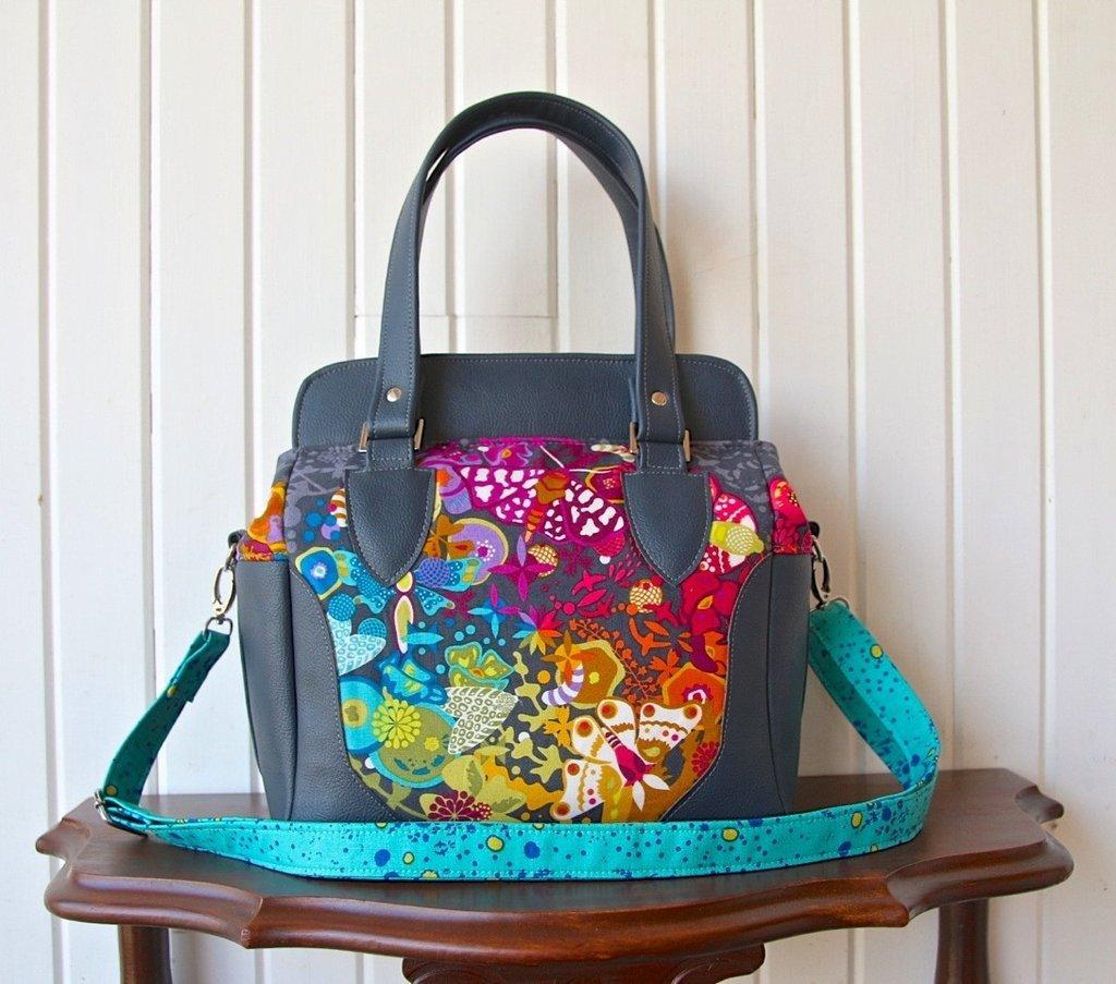 1-blue calla- aster handbag