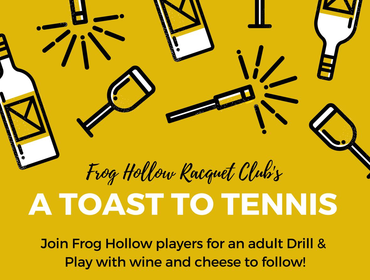 A Toast To Tennis Header