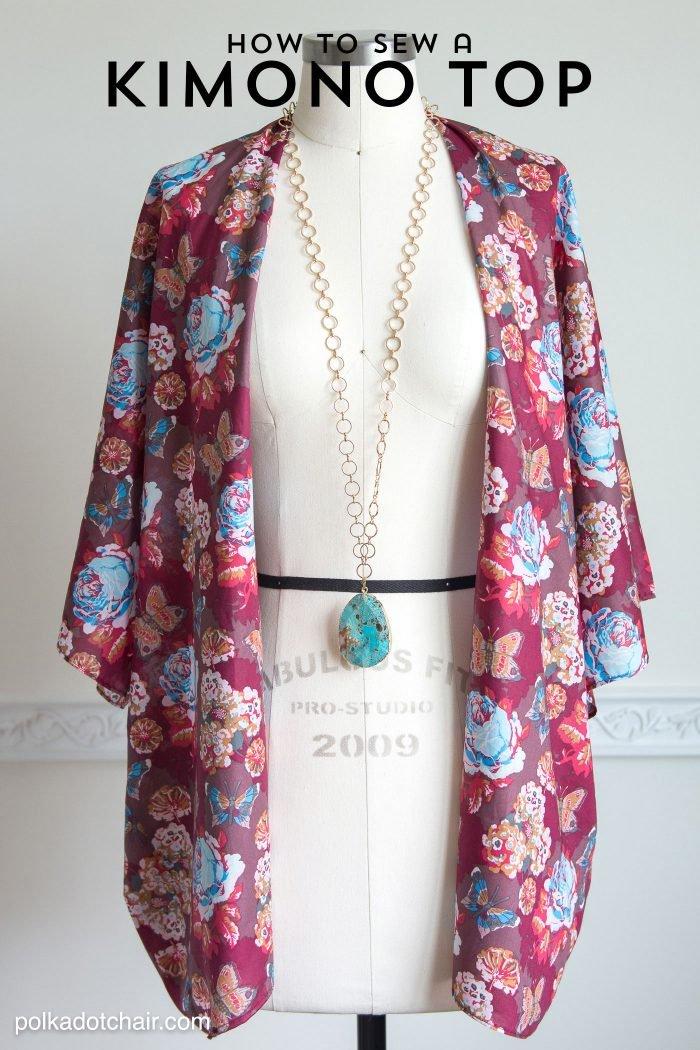Polka dot chair- how-to-sew-a-kimono-jacket