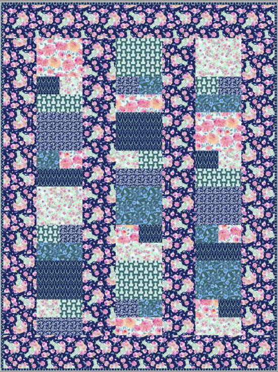 opening night quilt- by villa rosa designs