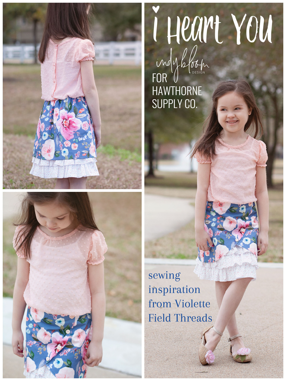 Indy Bloom I Heart You Poplin Fabric and Ashley Cowan for VFT