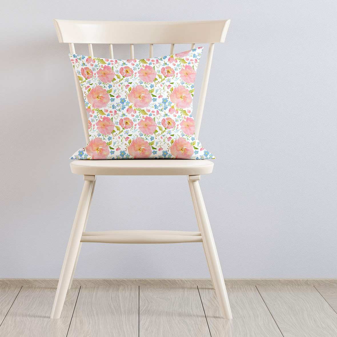Pillow on Ivory Chair