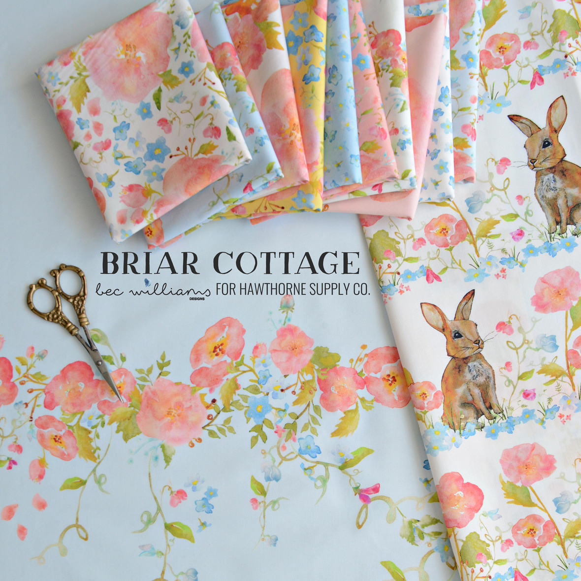 Bec Williams Briar Cottage Fabric Poster at Hawthorne Supply Co