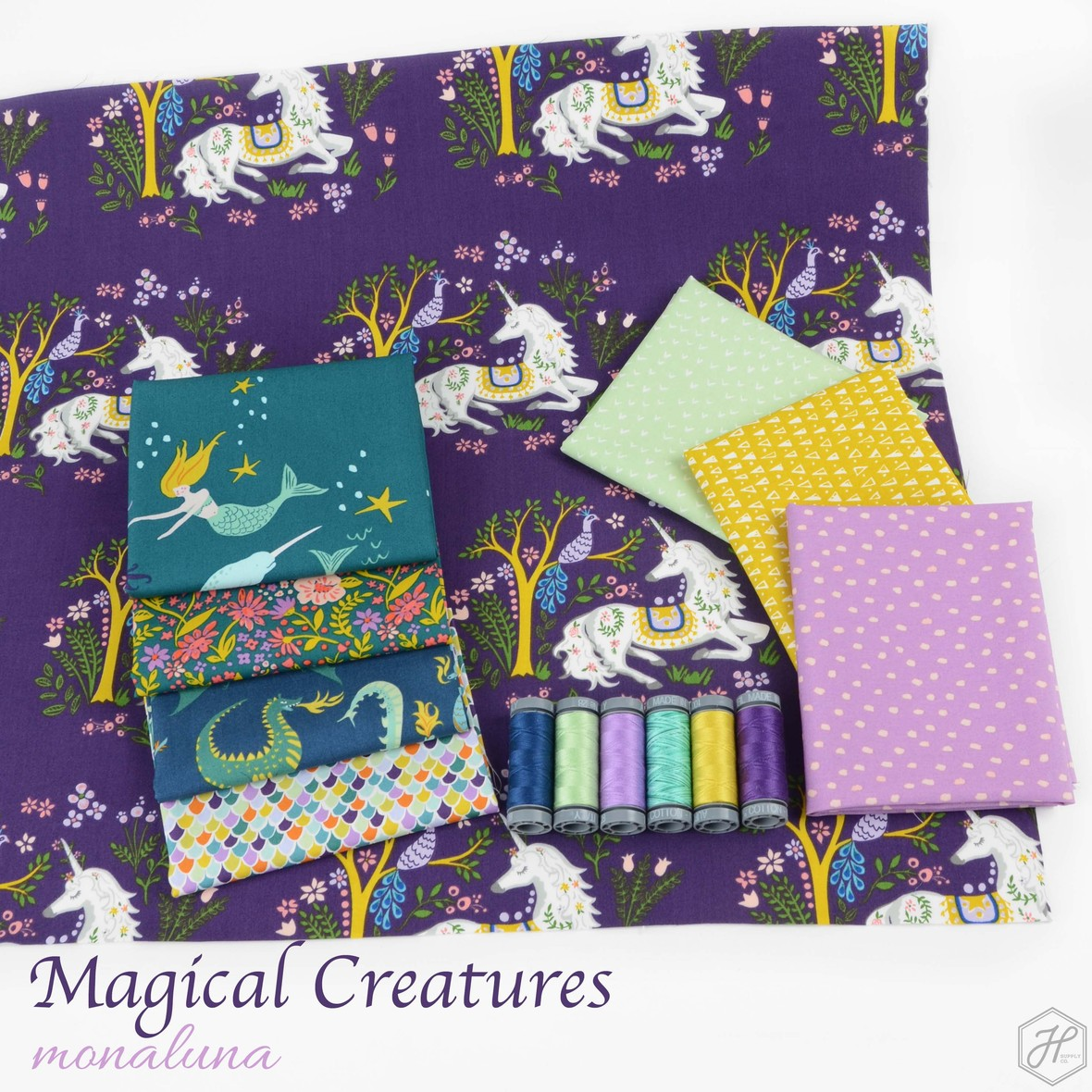 Magical Creatures Fabric Poster Monaluna at Hawthorne Supply Co
