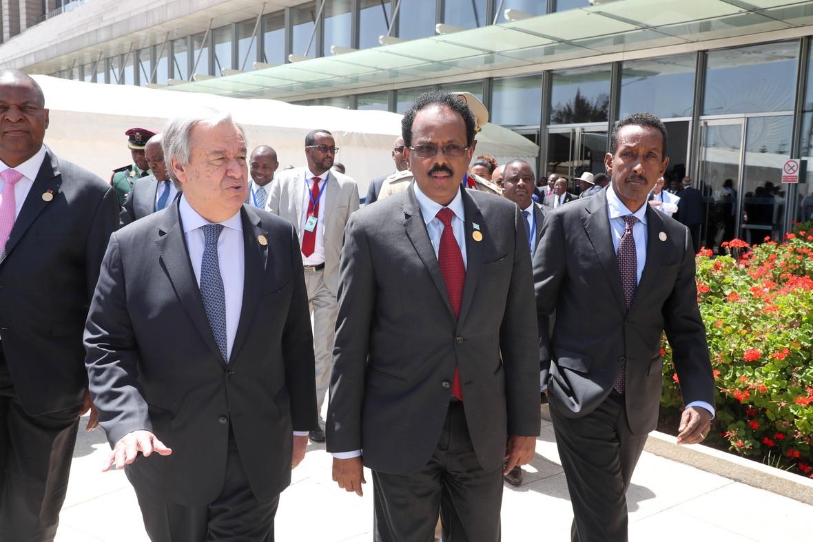 Madaxweyne Farmaajo oo ka qayb galay shirka EU ee Addis Photo Ali Dualle-13